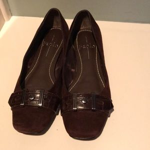 Paolo Brown Suede Flats